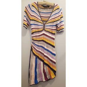 Desigual stretch knit midi dress, medium